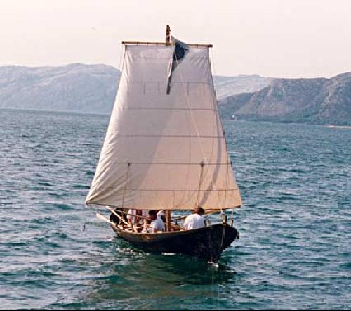 Knut with assymetric square sail